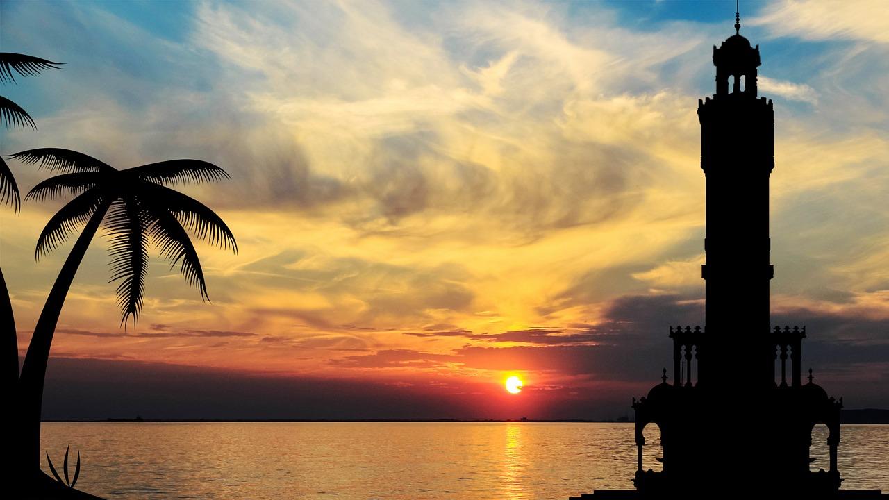 綺麗な夕日